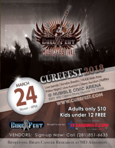 Curefest 2018 flier