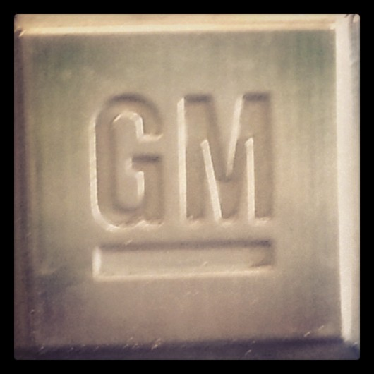 GM emblem from vehicle