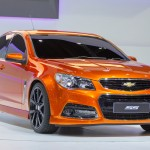 NONTHABURI, THAILAND - DECEMBER 6 : Chevrolet SS car on display