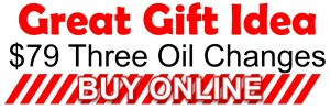 gift idea oil changes