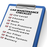 car maintenance checklist clipboard