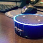 Amazon Alexa Dot ready for conversation.