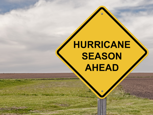 Hurricane Season Ahead Sign